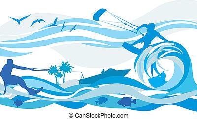 Wassersport - Drachensurfen, Wasser