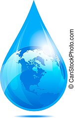 Wassertropfen Welt, Wassertropfen.