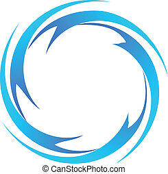 Wasserwellen-Logo-Vektor.