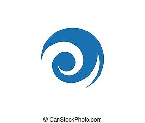 Wasserwellen-Logo-Vorlage.