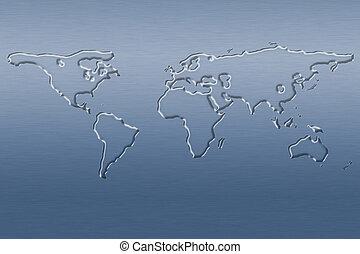 Wasserweltkarte