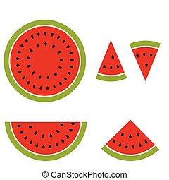 Watermelon Cartoon Image.