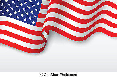Wavy-American-Flagge