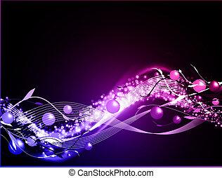 Wavy glühender neonischer Hintergrund