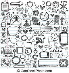 Web-Computer-Ikonen, fragwürdige Zeichnungen