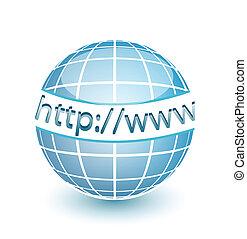 web, http, www, erdball, internet