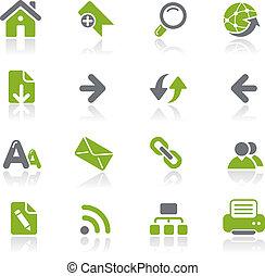 Web Navigation icons / Natura