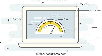 Web-Seite Verladegeschwindigkeit Test Icon - Website Performance Optimierung.