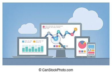 Web und SEO analytics Konzept