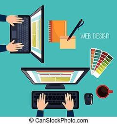 Webdesign Entwicklung.
