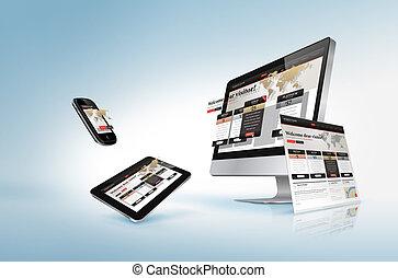 Webdesign-Konzept