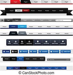 Webdesign-Menü-Navigationsleiter