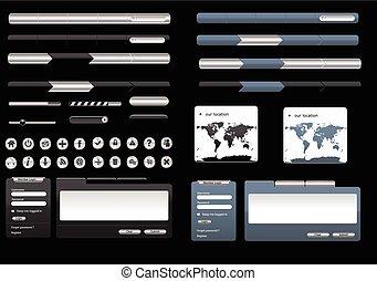 Webdesign Metallelemente