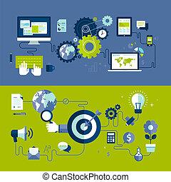 Webdesign und Werbung.