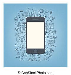 Webentwicklung mit modernem Smartphone