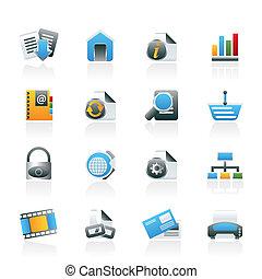 Webseite und Internet-Ikonen