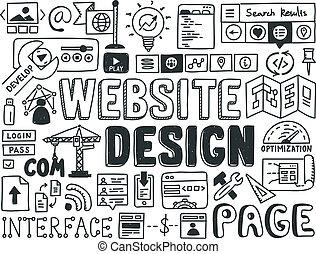 Website Design-Doodle-Elemente