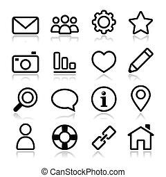 Website-Menü-Navigations-Ikone