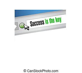 website, schlüssel, erfolg, zeichen