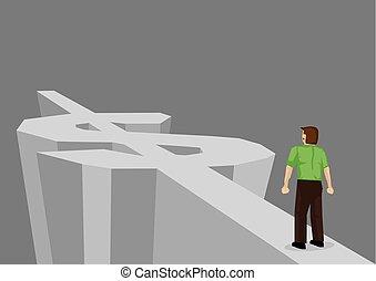 Weg zu Reichtum Cartoon Vektor Illustration