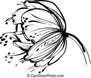 Weiße Blumenknospe