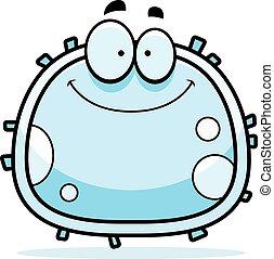 Weiße Blutzellen lächeln.