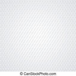 Weiße Honigwabe auf grauem Hintergrund