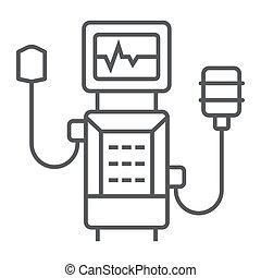 weiße linie, gesundheit, sauerstoff, 10., grafik, schlanke, ikone, ikone, zeichen, vektor, ventilator, eps, hintergrund, medizin, linear, atmen