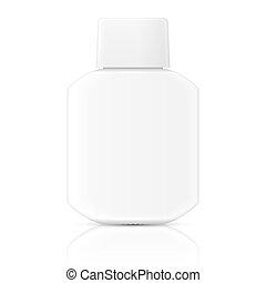 Weiße Lotionsflasche.