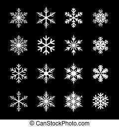Weiße Schneeflocken