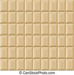 Weiße Schokoladenstange nahtlos Hintergrundmuster. Vector