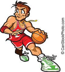 Weißer Basketballspieler