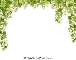 Weißer Blumenrahmen.