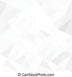 Weißer Hintergrund mit Dreiecken. Vector.