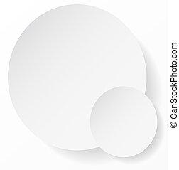 Weißer Kreis mit abstraktem Hintergrund