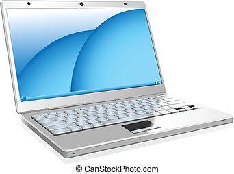 Weißer Laptop