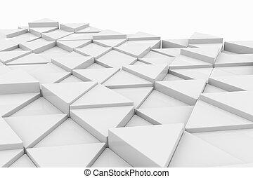 Weißes Dreieck. Hintergrund.