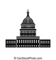 Weißes Haus in Washington DC Ikone