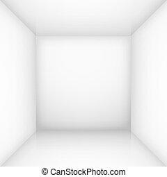 Weißes leeres Zimmer
