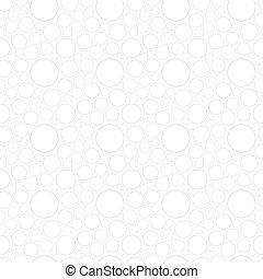 Weißes, nahtloses Muster mit Kreisen.