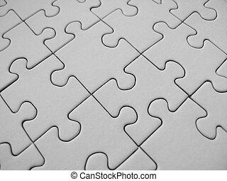 Weißes Puzzle.