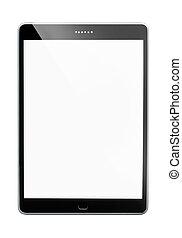 weißes, tablette, hintergrund