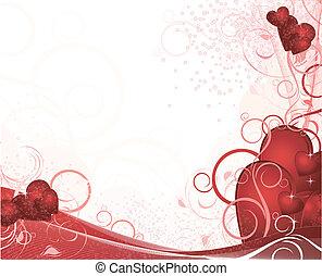 weißes, valentines, hintergrund