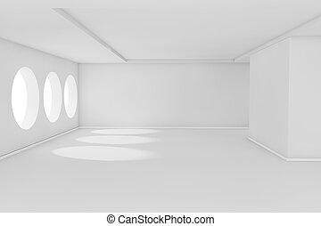 Weißes Zimmer.