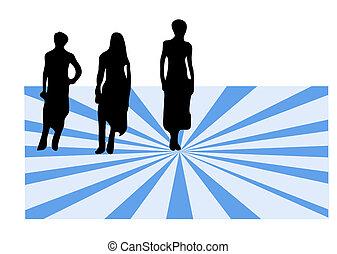 Weibliche auf farbenfrohem Bock-Checkfolio für ähnliche Bilder