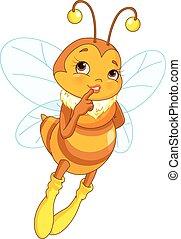 Weibliche Biene.