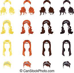 Weibliche Haare