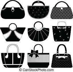 Weibliche Handtaschen-Frau