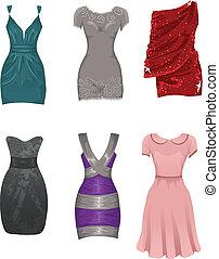 weibliche , kleidet