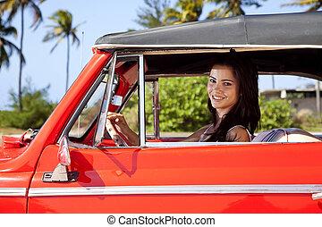 Weibliche Teenager-Fahrer